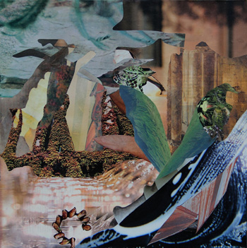 Juliette AGABRA Le Royaume collage 30x30